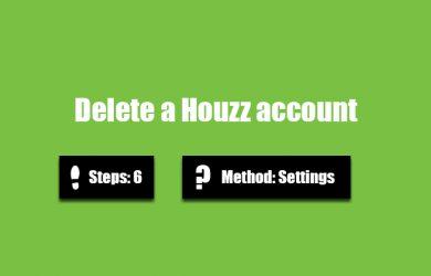 Delete Houzz account