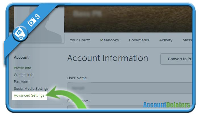 delete houzz account 3