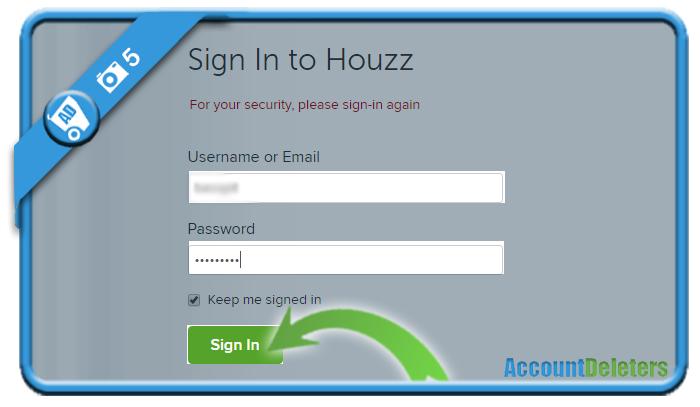delete houzz account 5