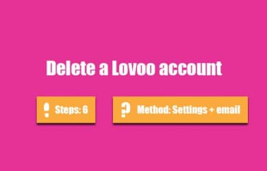 Delete lovoo account