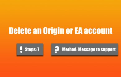 Delete Origin or EA account