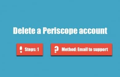 Delete periscope account