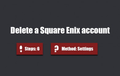 Delete square enix account