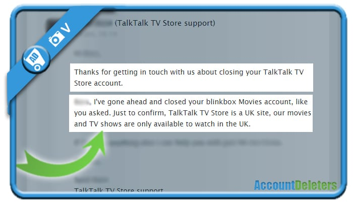 delete talktalk account 3