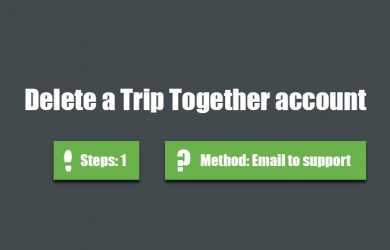Delete trip together account