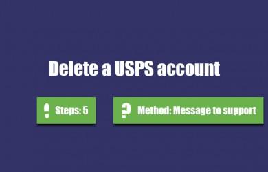Delete usps account