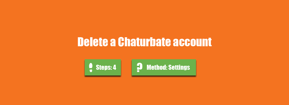How to delete chaturbate account
