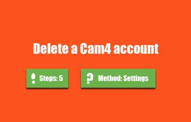 delete cam4 account 0