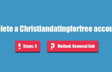 delete christiandatingforfree account