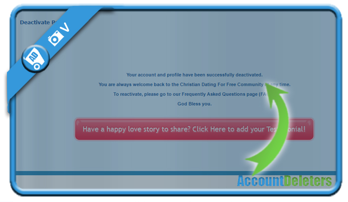 How to deactivate christian dating for free account