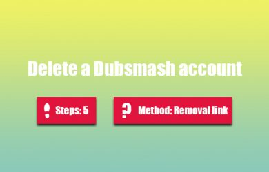 Delete dubsmash account