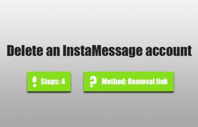 Delete instamessage account