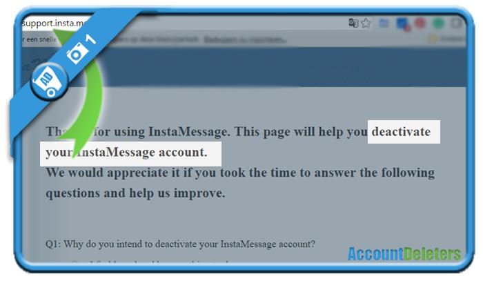 delete instamessage account 1
