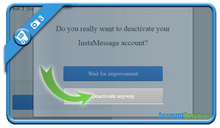 delete instamessage account 3