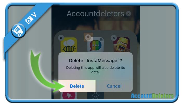 delete instamessage account 5