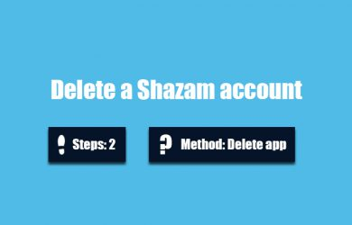 Delete Shazam account