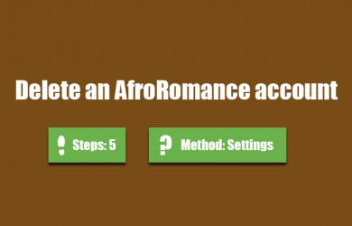 delete afroromance account