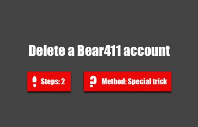 delete bear 411 account 0