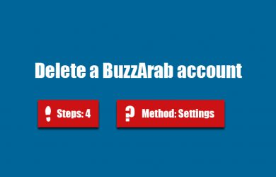 delete buzzarab account
