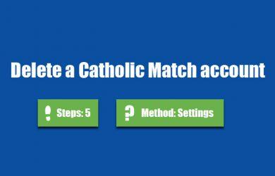 delete catholic match account 0