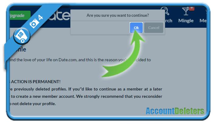 delete date com account 4