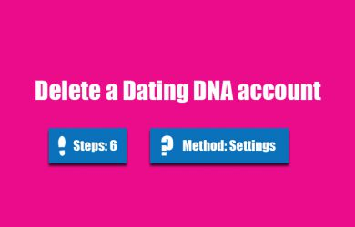 delete dating dna account
