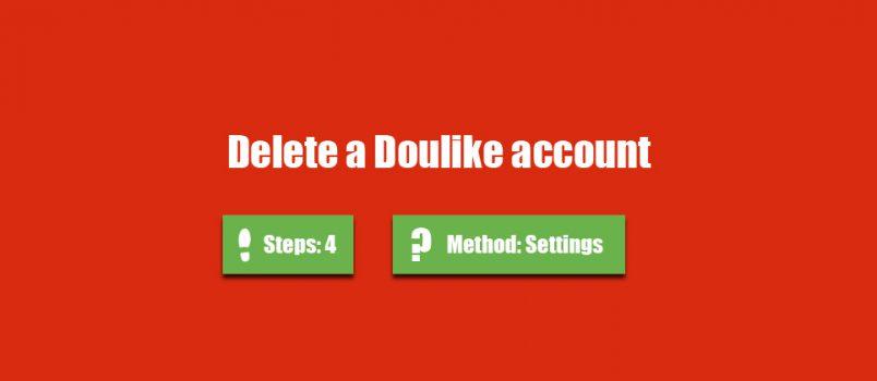 delete doulike account