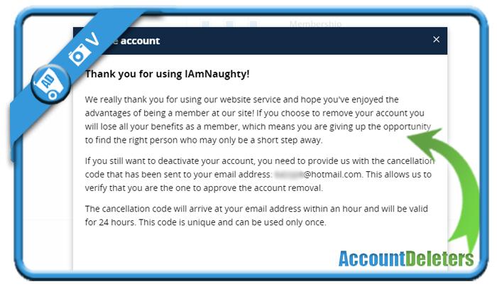 delete iamnaughty account 5