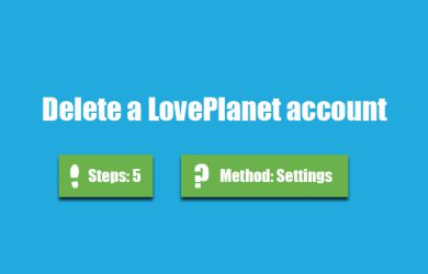 delete loveplanet account