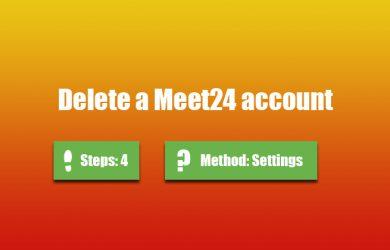 delete meet24 account