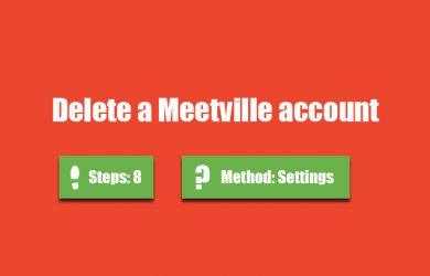 delete meetville account