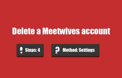 delete meetwives account 0