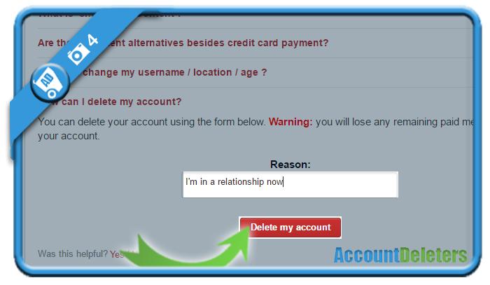delete meetwives account 4