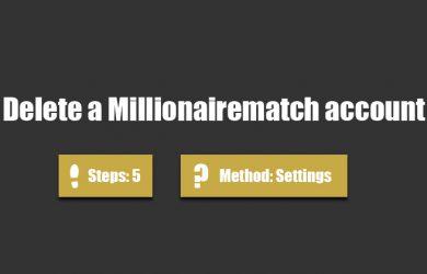 delete millionairematch account