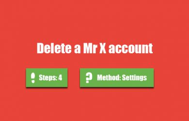 delete mr x account 0