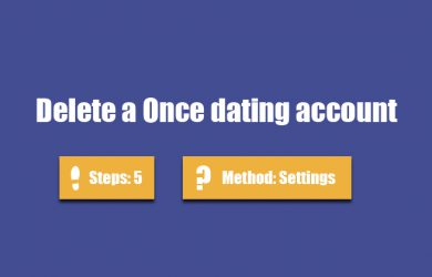 delete once dating account