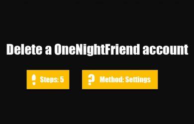 delete onenightfriend account 0