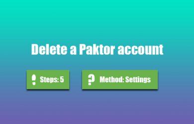 delete paktor account