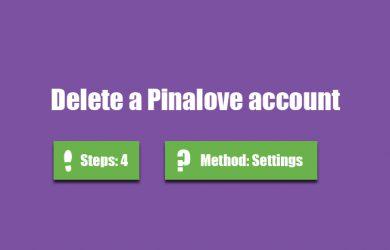 delete pinalove account