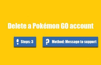 delete pokemon go account