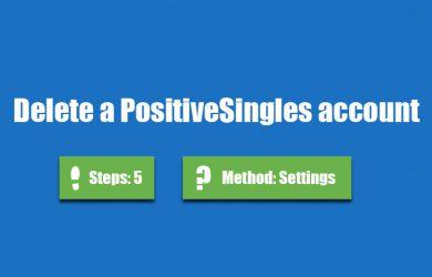 delete positivesingles account 0
