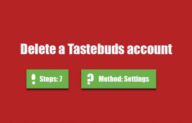 delete tastebuds account 0