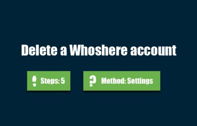 delete whoshere account