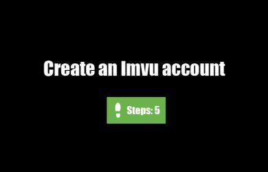 create imvu account 0