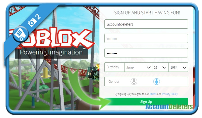 create roblox account 2