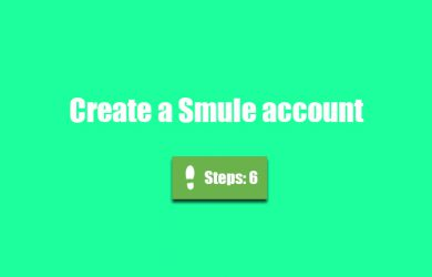 create smule account