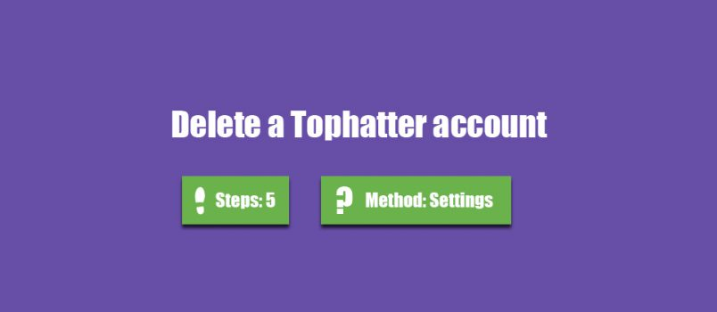 delete tophatter account