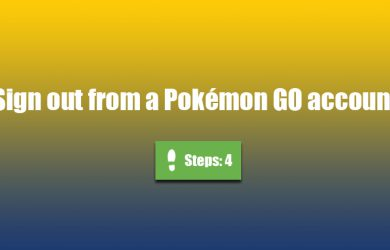 pokemon go sign out