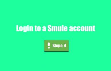 smule account login