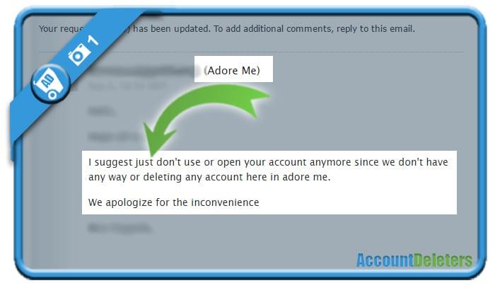 delete adoreme account 1